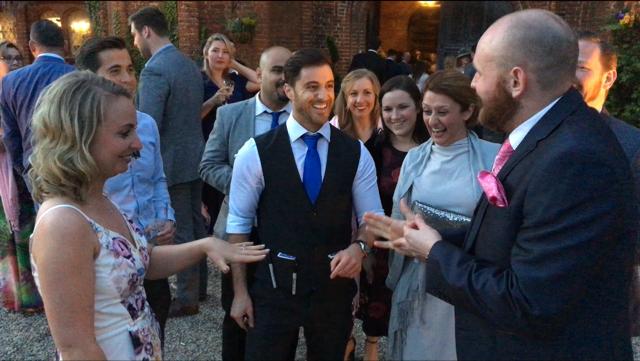 Close-Up Magic @ Leez Priory Wedding 3