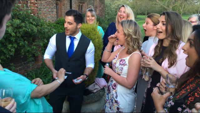 Close-Up Magic @ Leez Priory Wedding 8