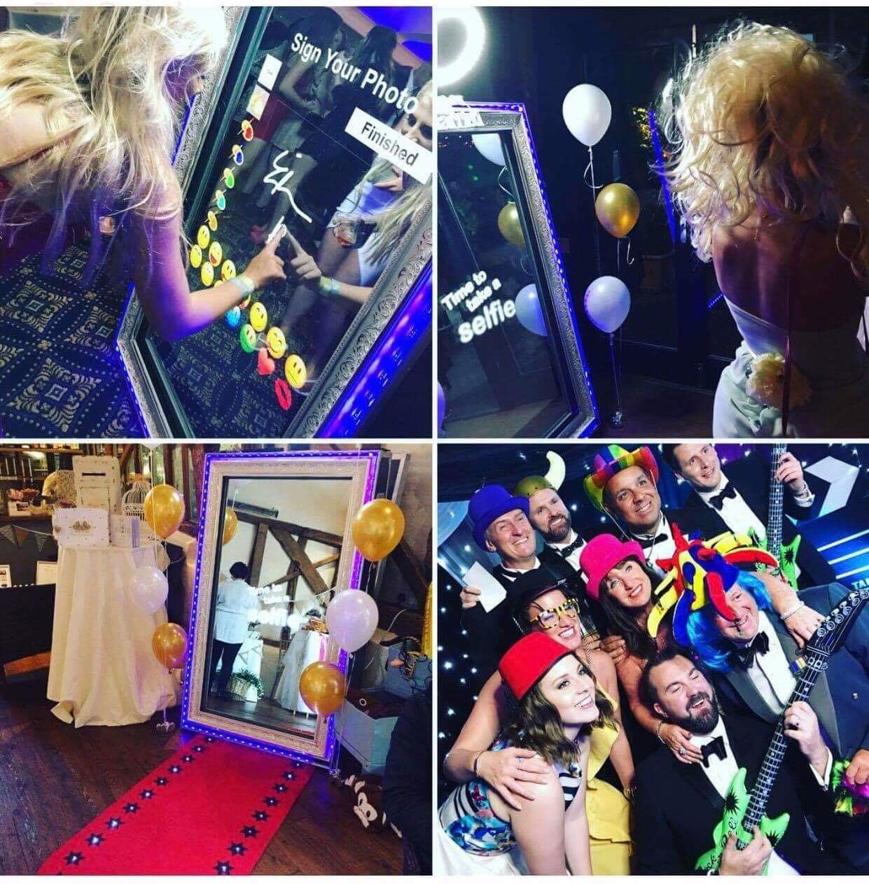 Magic mirror photobooth supplied by ELLE Entertainment