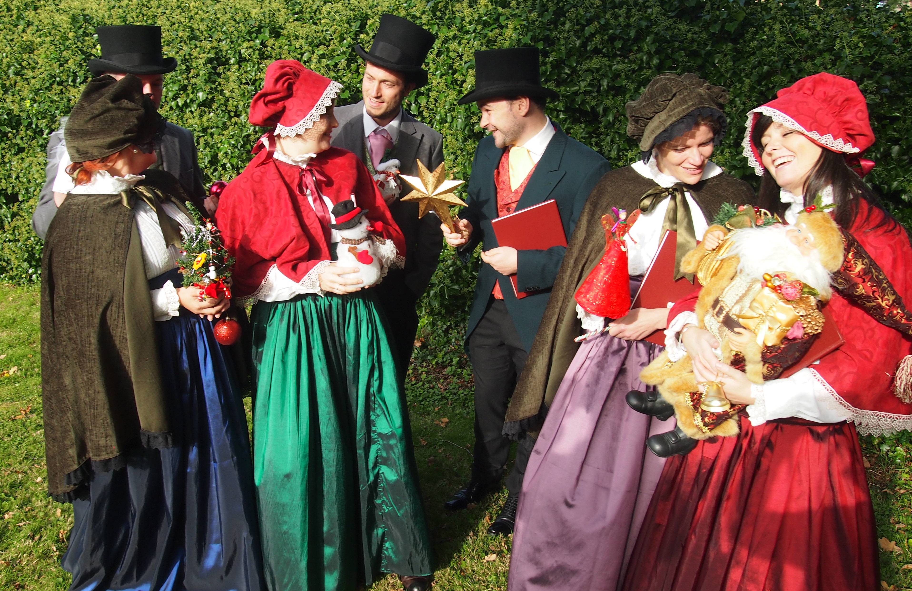 Dickensian Victorian Christmas Carol Singers for Hire for Events with ELLE Entertainment