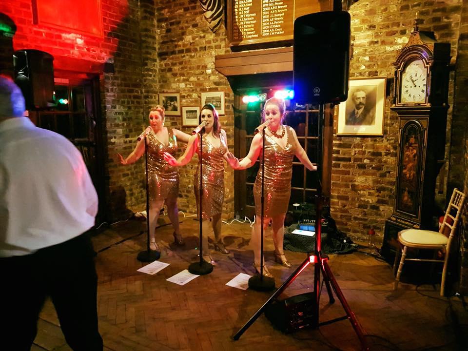UK BAND-Estrellas Group performing at old pub