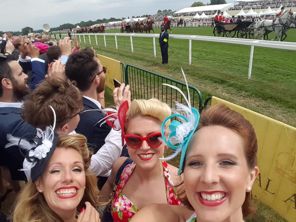 UK BAND-Polka Dots at Horse Racing Event