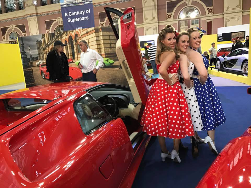 UK BAND-Polka Dots at Super Car Show
