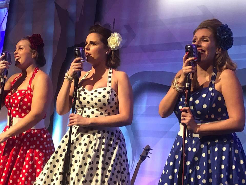 UK BAND-Polka Dots on stage performing