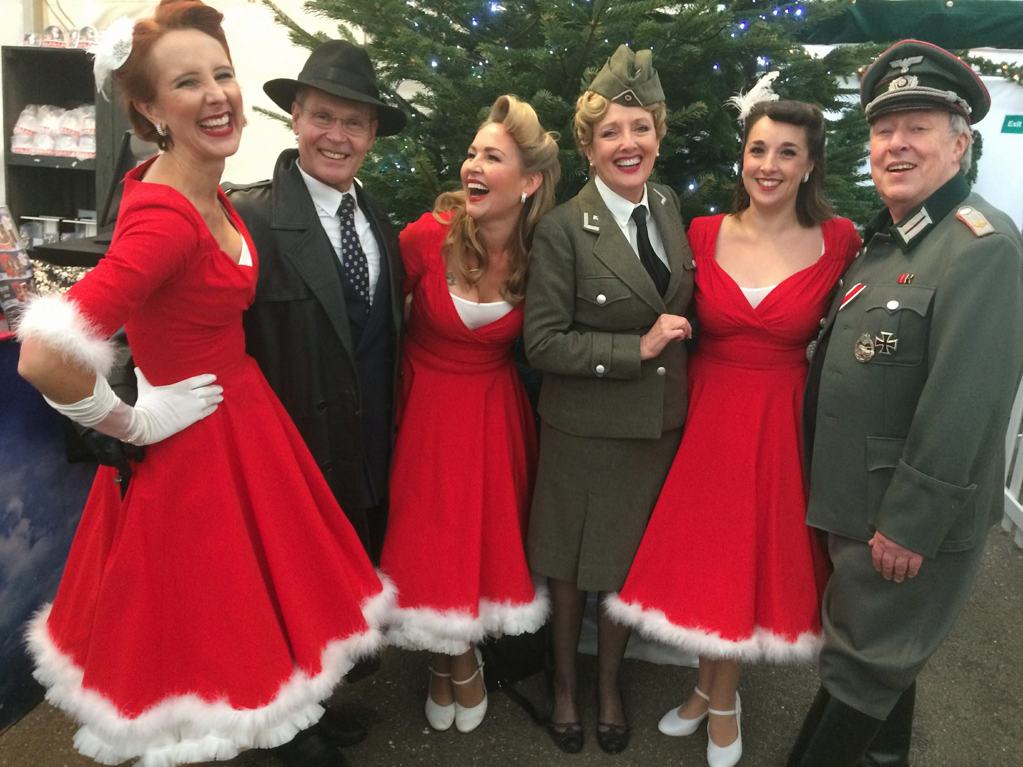 UK BAND-Polka Dots with soldiers at WW Event