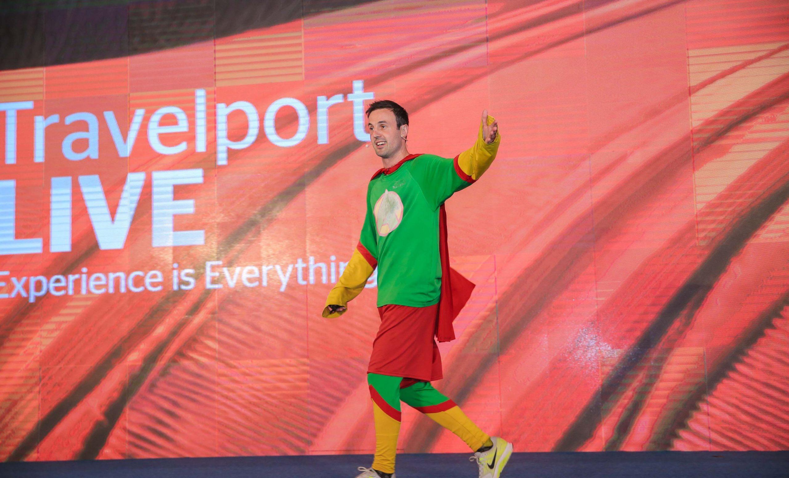 Motivational Speaker, Jamie MacDonald, known as Adventureman on stage